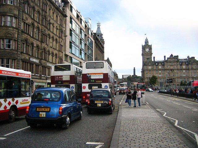 Bus jam, Princes Street.