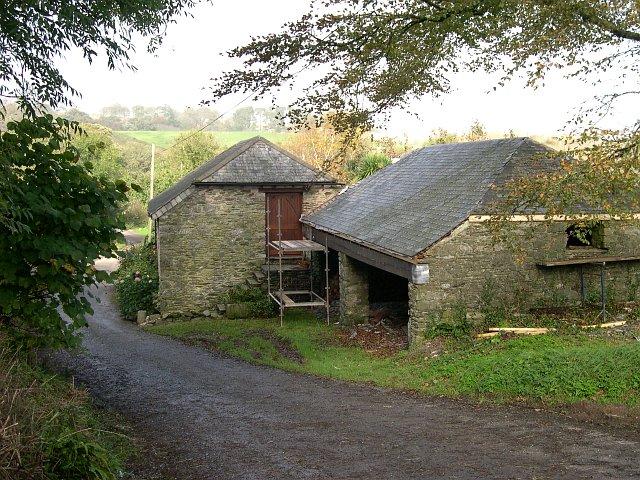 Old farm buildings at Tredrossel