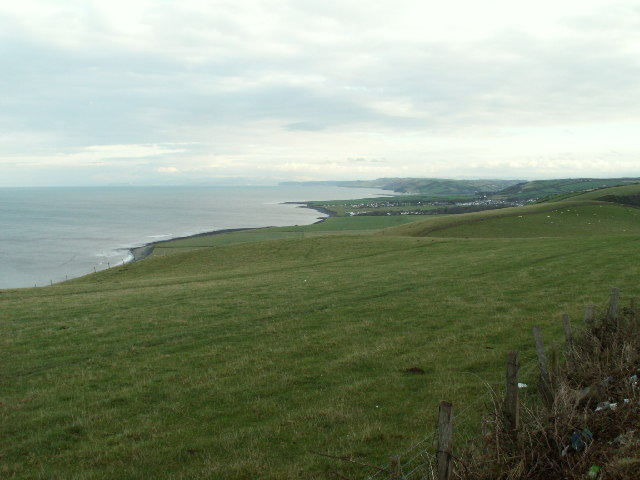Coastal fields near Llanon