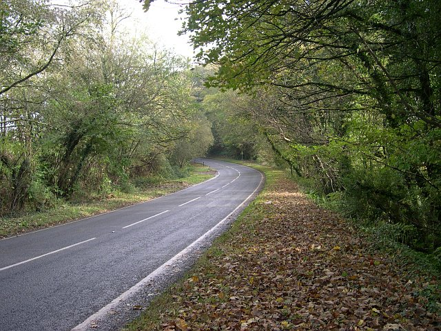The A374 east of Sheviock