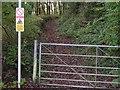 SX3854 : Not the way into Wacker Woods by Tony Atkin