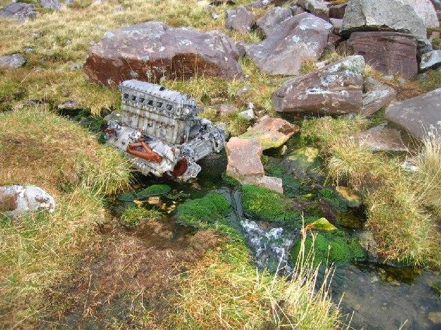 Lancaster wreckage, Coire Mhic Fhearchair