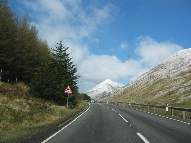 A82 looking north to Beinn Dorain