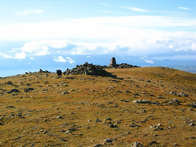 Moel Hebog Summit and Trig Point
