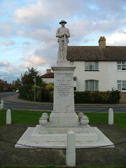 Arlesey war memorial.