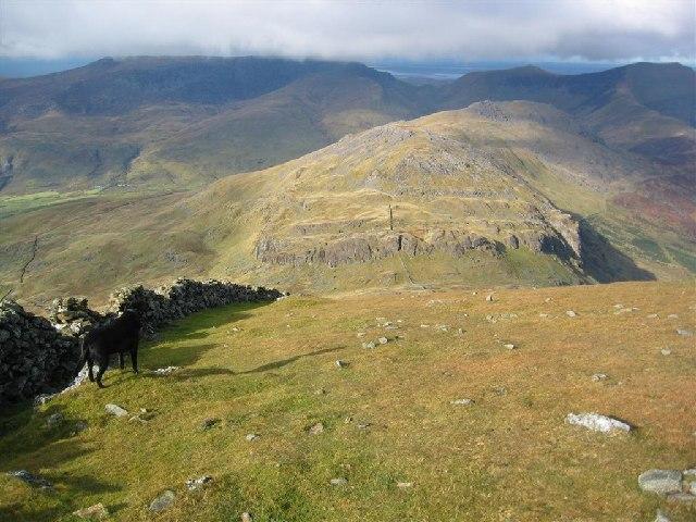 The NW slopes of Moel Hebog towards Moel yr Ogof