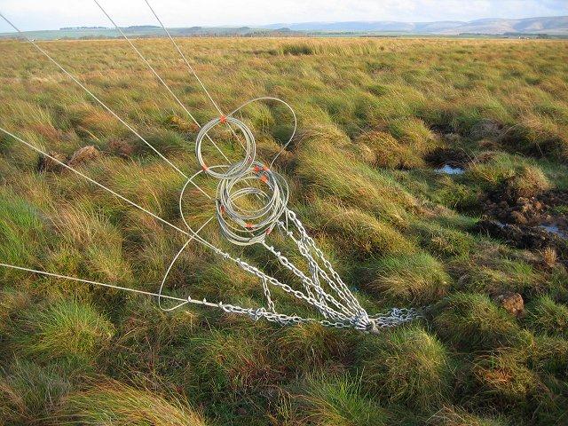 Anemometer anchor,  Auchencorth Moss.