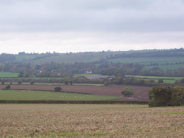 Meonvale & Shavards Farm from South Downs Way