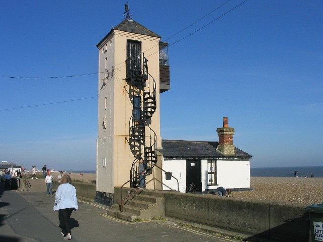 The old lifeboat house and lookout, Aldeburgh