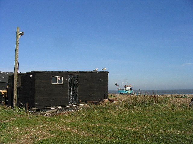 Fisherman's hut and boat, Aldeburgh