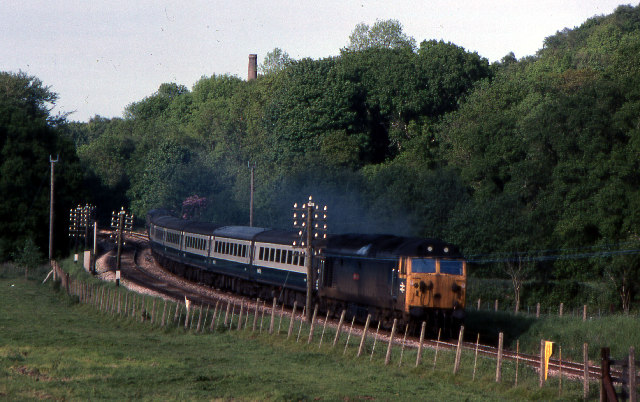 Mainline south west of Bodmin Parkway, 1979