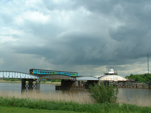 Swing Railway Bridge Over the River Ouse Between Hook and Skelton