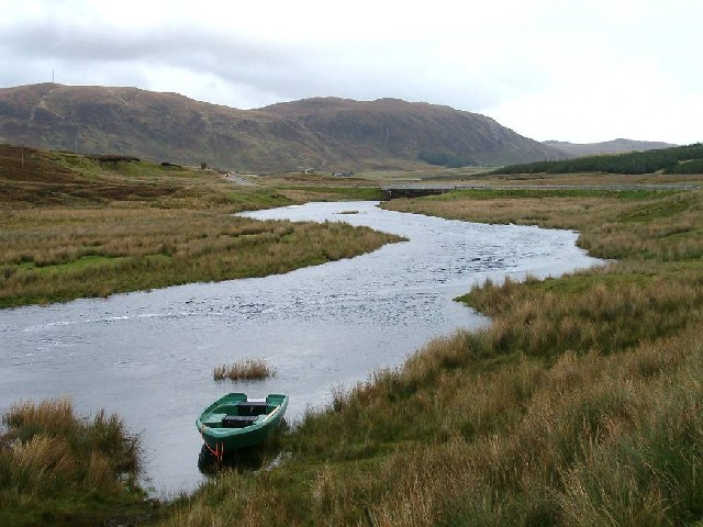 Ledmore River and A835, Assynt