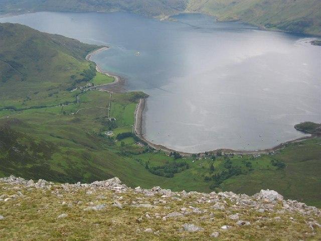 Arnisdail from Beinn Sgritheall