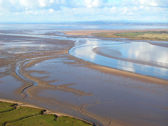 Channel of River Wampool, Solway Estuary, Cumbria