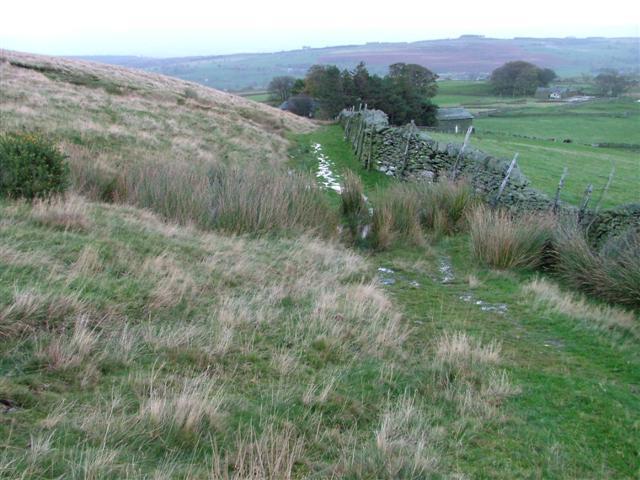 Track Along Fell Wall