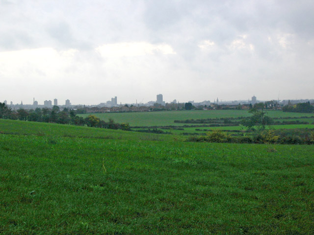View of Leicester city skyline