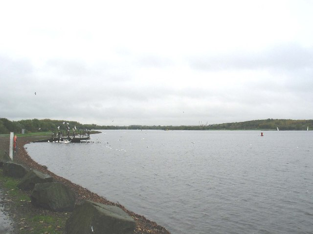 Strathclyde Loch from the south end looking north.