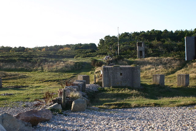 Pill box and sea defences