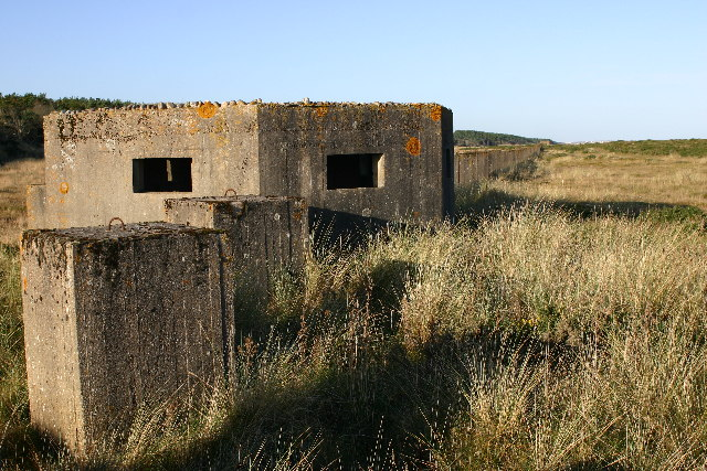 Pill box and defences