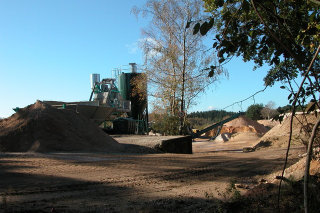 Workings at Minsted Quarry