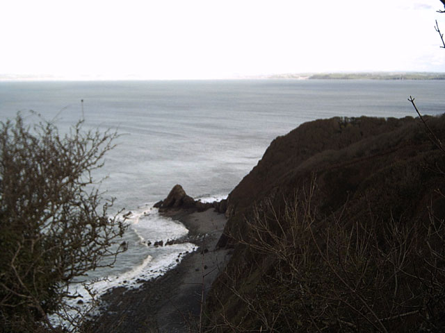Blackchurch Rock from Brownsham Cliff