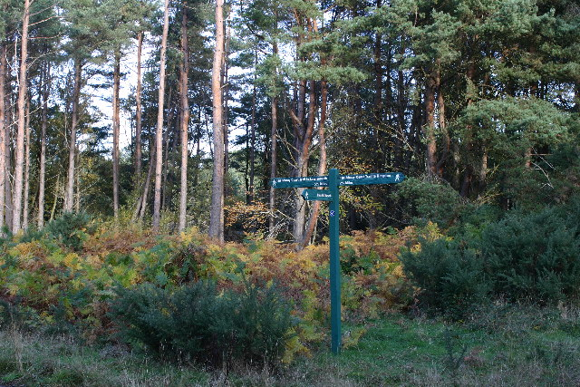 Signpost on Moray Coastal Trail