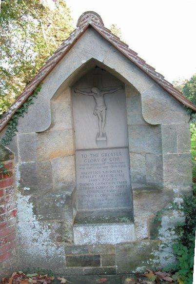 War memorial outside St George's church Trotton
