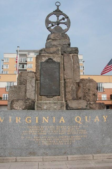 Virginia Quay monument.