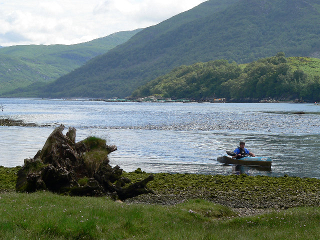 River Awe meets Loch Etive.