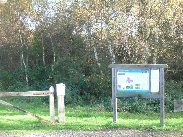 Information board at Chobham Common car park