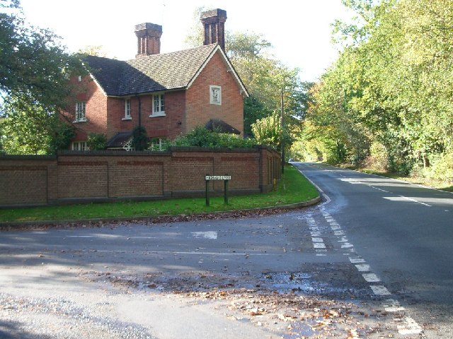 Junction of Highams Lane with Chertsey Road