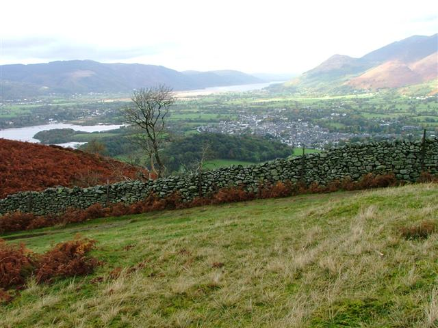 View of Keswick from the Slopes of Walla Crag