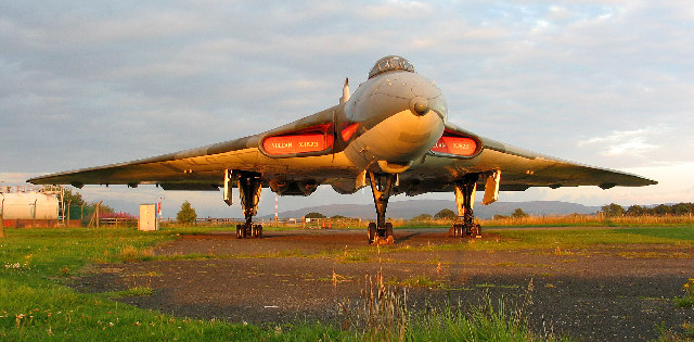 The Avro Vulcan, Solway Aviation Museum, Carlisle Airport, Cumbria