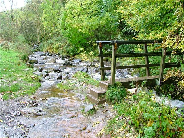 Footbridge Over Brockle Beck at Springs Wood