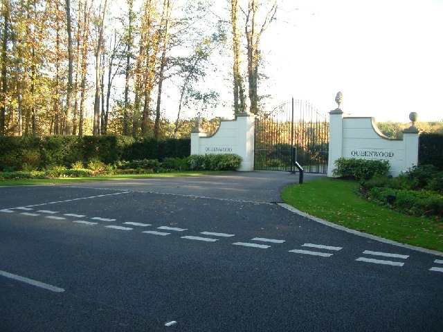 The entrance to Queenwood