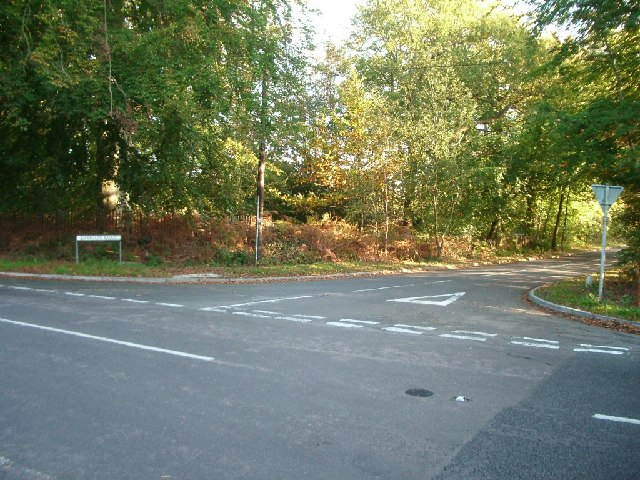 Junction of Foxhills Road with Stonehill Road