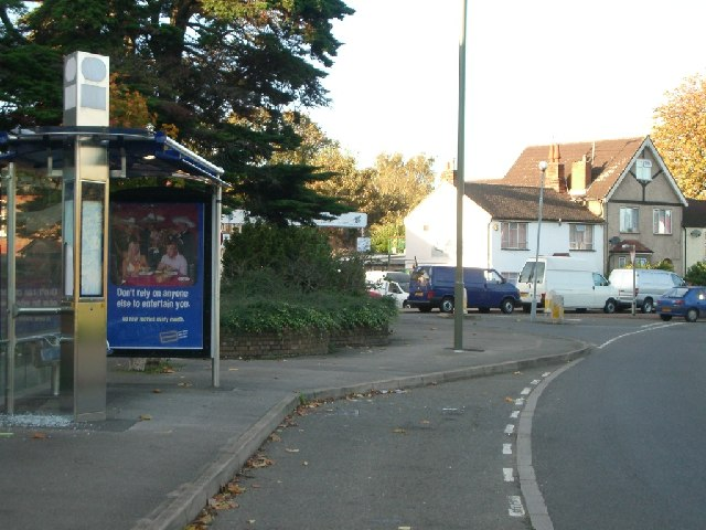 Bus stop in Chertsey Road, Addlestone