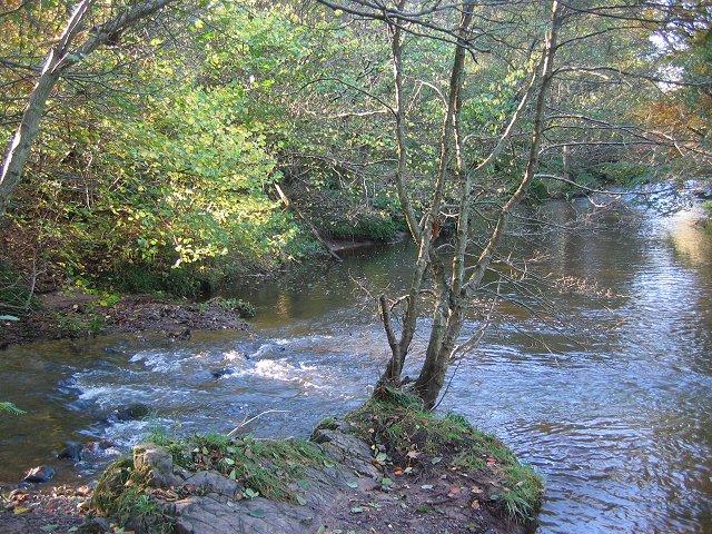 Birns Water/Humbie Water confluence.