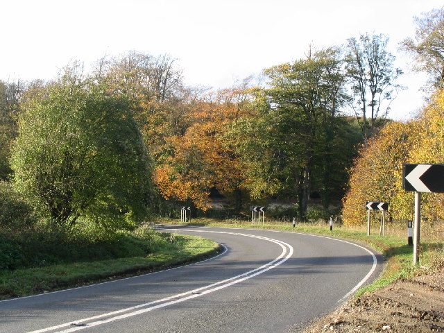 Bend on the A339