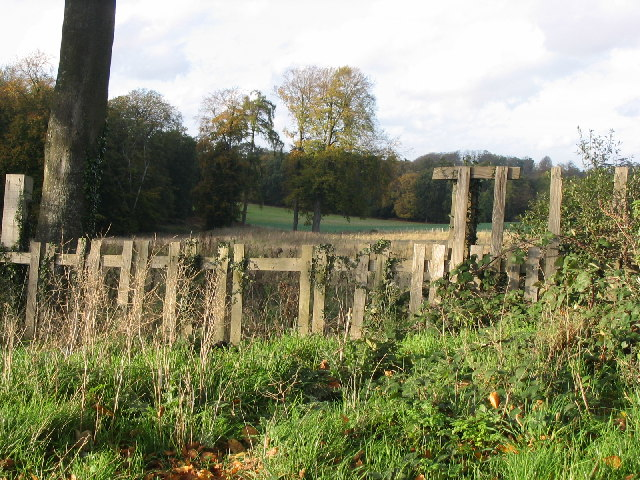 Looking over the fence into Hackwood Park