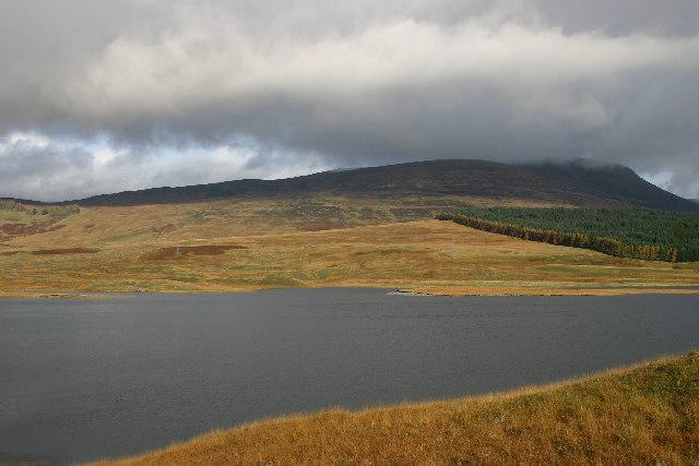 Loch behind Spey Dam