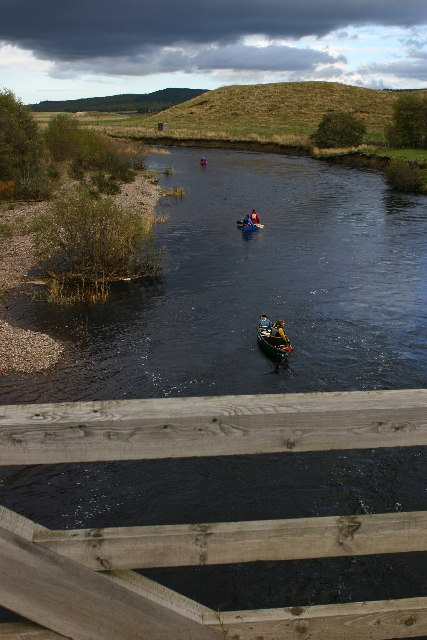 Canoeists on River Spey