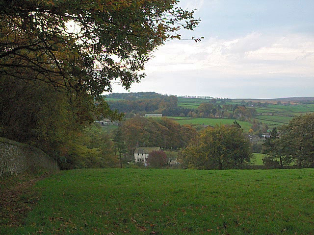 New Laithe Farm from Branshaw Plantation