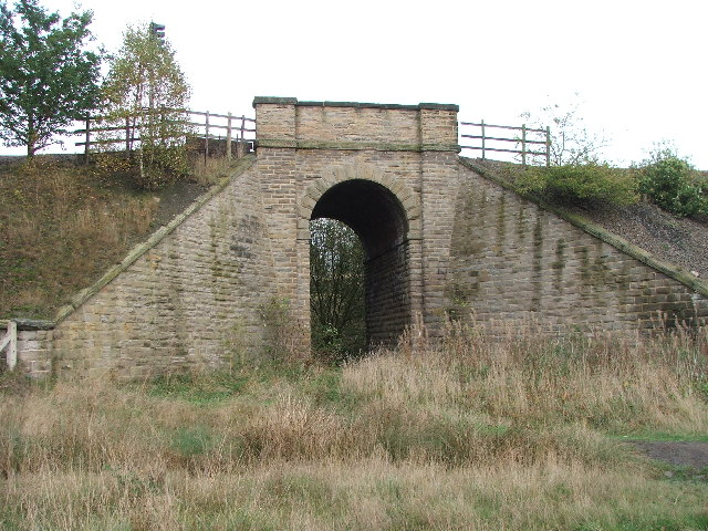 Railway bridge next to Walton Colliery.