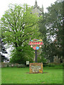 TG1124 : Salle Village Sign by Mark Boyer