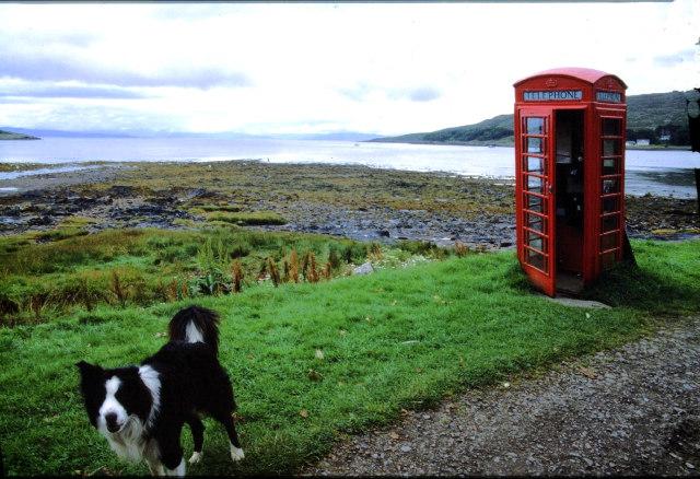 Telephone box, Kinloch.