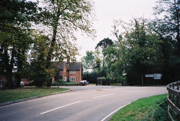 The junction of the B3018 with How Lane