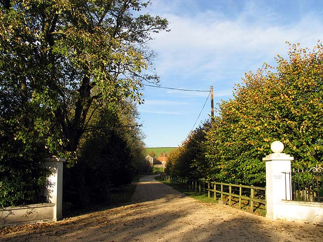 Gates and Byway to East Shefford House