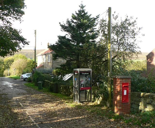 Telephone kiosk and postbox